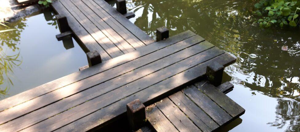 Chemins empemêchant les mauvaises ondes, jardin japonais, Munich Westpark