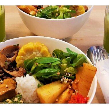 Repas au Restaurant Vegan Tushita