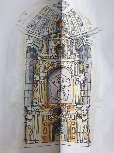 Michaelskirche, croquis © Agnès Tondre