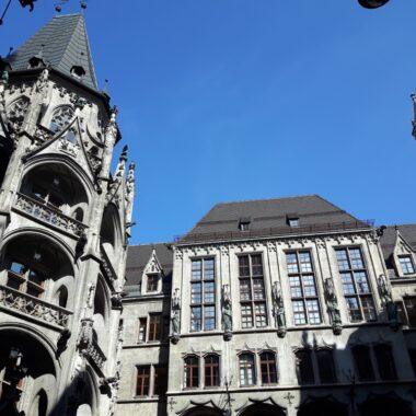 Cour intérieure de la mairie de Munich à Marienplatz
