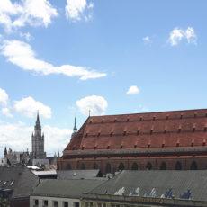 Frauenkirchen, vue de la terrasse du Bayerischer Hof