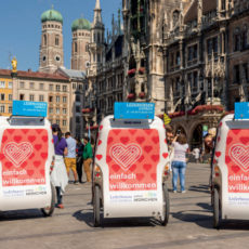 Congrès ESC 2018 à Munich, pousses-pousses à Marienplatz © Muenchen Tourismus