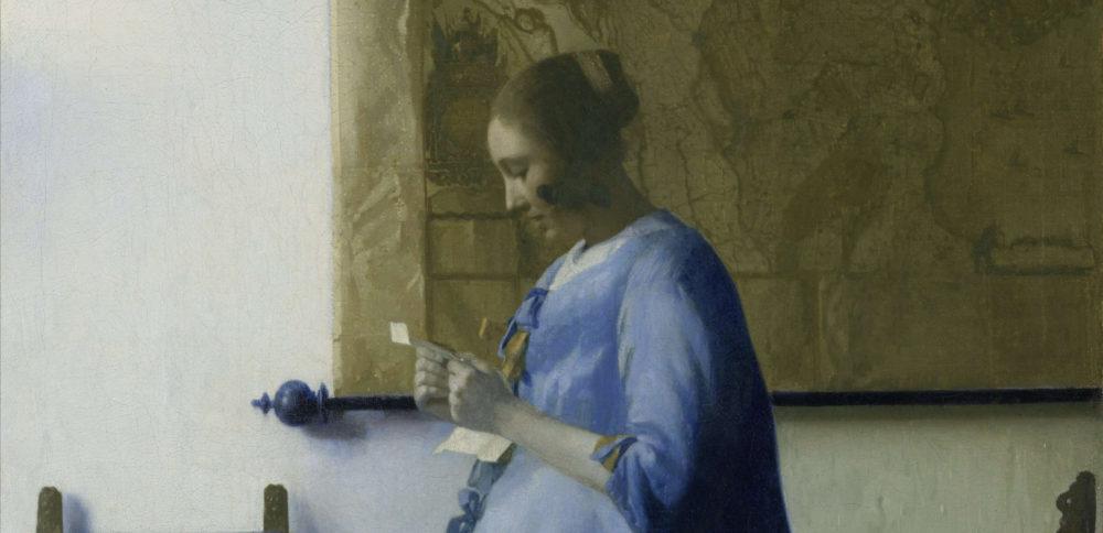 Tableau de Johannes Vermeer, femme en bleu lisant une lettre © Wikimedia Commons