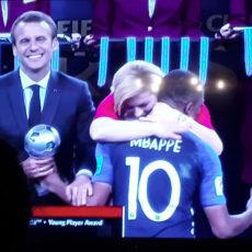 Capture d'écran, la France est championne du monde de foot 2018
