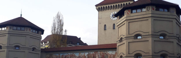 Isartor, fresque rappelant une bataille du Moyen-Age