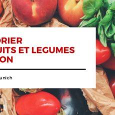 Calendrier fruits et légumes de saison