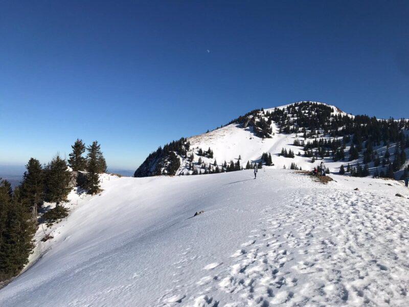 Sommet du Hochgern sous la neige