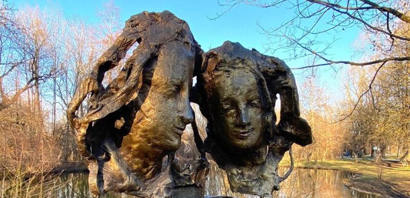 Statue d'Agnes Bernauer et Albert de Bavière, château de Blutenburg © Laure Wilkinson