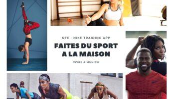 Faites du sport à la maison avec Vivre A Munich © Nike