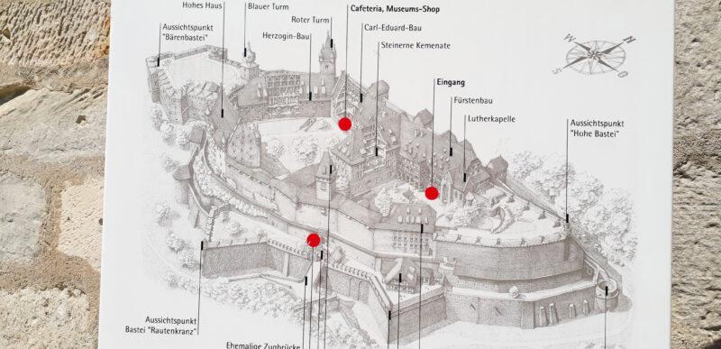 Coburg, plan de la Veste