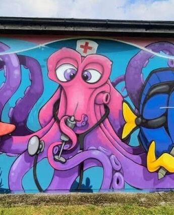 Street-art, graphe de Lion Fleischmann, Munich