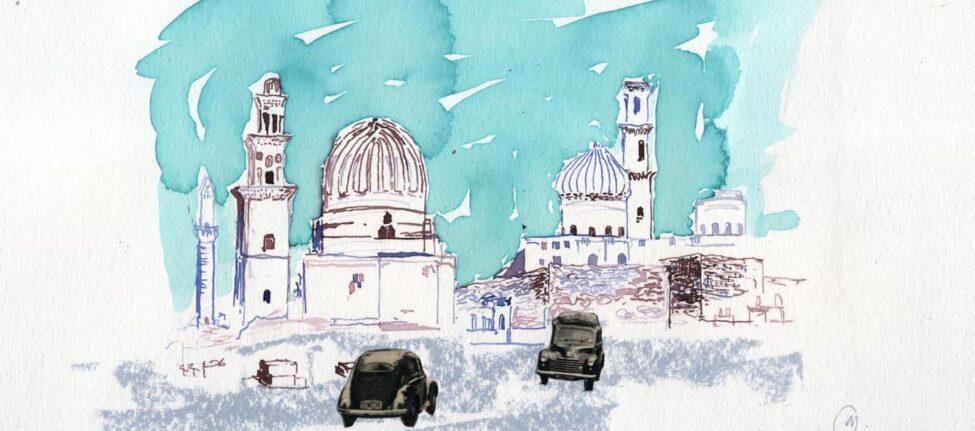 Kairo, Aquarelle de Cyril Mariaux